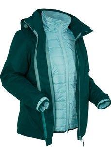 Функциональная куртка 3 в 1 (насыщенный зеленый) Bonprix