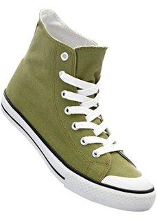 Высокие кеды (оливково-зеленый) Bonprix