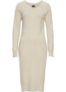 Вязаное платье (бежевый) Bonprix