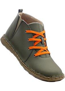 Кожаные ботинки (оливковый/верблюжий) Bonprix