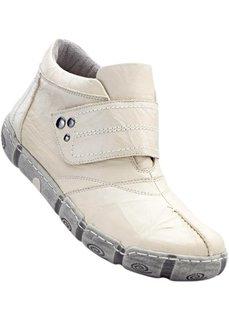 Кожаные ботинки (кремовый) Bonprix