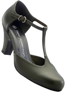 Кожаные туфли (темно-зеленый) Bonprix