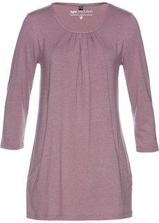 Удлиненная туника с карманами (фиолетовый матовый) Bonprix