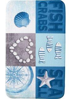Коврик для ванной Ракушки из пены с эффектом памяти (синий) Bonprix