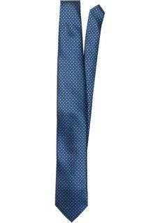 Галстук с минималистичным принтом (темно-синий с узором) Bonprix