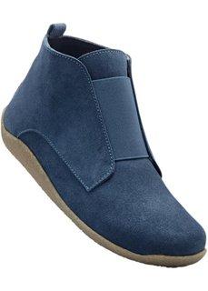 Удобные замшевые ботинки (синий джинсовый) Bonprix