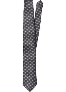 Галстук с минималистичным принтом (черный с узором) Bonprix
