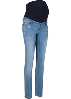Для будущих мам: джинсы с прямыми брючинами (голубой) Bonprix