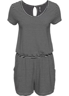 Комбинезон с карманами (белый/черный в полоску) Bonprix