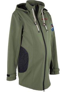 Куртка-софтшелл для беременных (оливковый) Bonprix