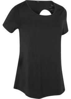 Спортивная футболка (черный) Bonprix