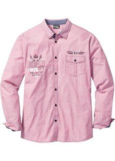 Рубашка Regular Fit с длинным рукавом (красный меланж) Bonprix