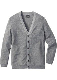 Кардиган Regular Fit (серый меланж) Bonprix