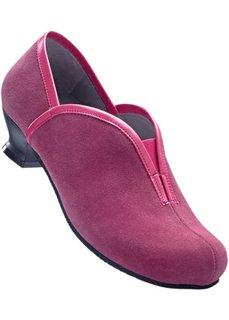 Удобные кожаные туфли (цвет фуксии/серый) Bonprix