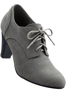 Туфли на шнурках (серый) Bonprix