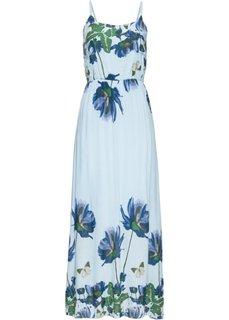 Макси-платье с принтом (нежно-голубой с узором) Bonprix