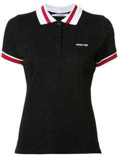 рубашка-поло с контрастным воротником и манжетами Givenchy