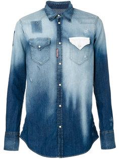 джинсовая рубашка с градиентным эффектом Dsquared2
