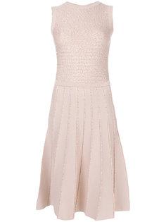 вязаное платье с отделкой пайетками Oscar de la Renta