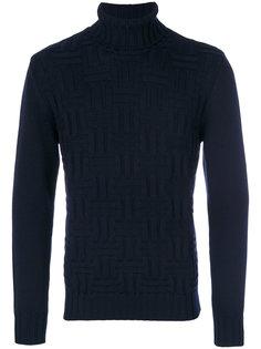 фактурный свитер с отворотной горловиной Eleventy