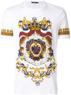 футболка с принтом герба Dolce & Gabbana