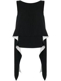 топ без рукавов с драпировками Givenchy