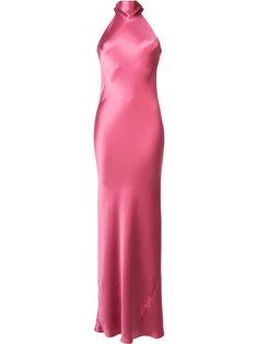 вечернее платье с вырезом-петлей халтер Galvan