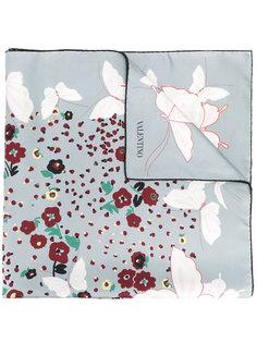 шарф с принтом бабочек Valentino
