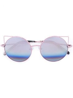 круглые солнцезащитные очки Linda Farrow
