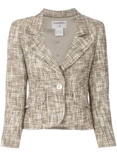 приталенный твидовый пиджак  Chanel Vintage