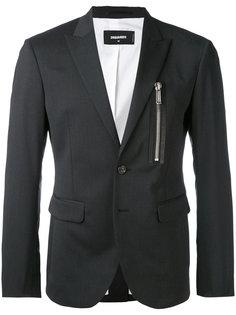 блейзер с карманами на молнии  Dsquared2