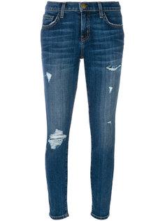 джинсы скинни с порванными деталями Current/Elliott