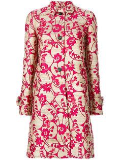жаккардовое пальто с цветами Valentino