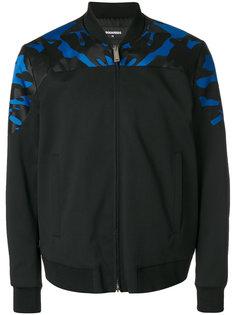 куртка-бомбер с камуфляжной вставкой  Dsquared2