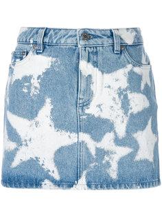 джинсовая юбка с рисунком из звезд Givenchy