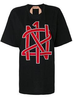 футболка бойфренда с принтом  Nº21