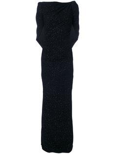 вечернее платье с элементом накидки Talbot Runhof