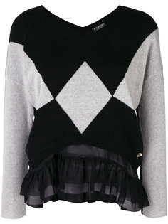 contrast panelled sweater Twin-Set
