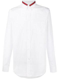 рубашка с контрастной оторочкой на воротнике Givenchy