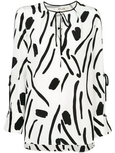 блузка-туника с рисунком Diane Von Furstenberg
