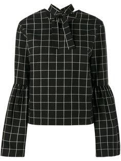 клетчатая блузка Marta с рукавами-колокол Rejina Pyo