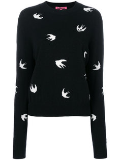 пуловер в ласточки McQ Alexander McQueen