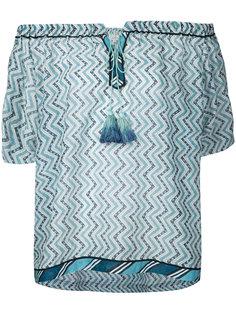 блузка с зигзагообразным узором Talitha