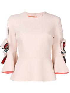 блузка с рукавами-колокол Roksanda