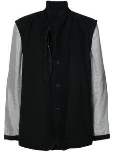 пальто с контрастными рукавами Ann Demeulemeester