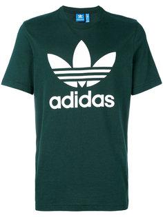 футболка с логотипом-трилистником Adidas Originals