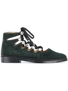 embellished lace-up shoes Toga Pulla