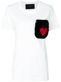 fur pocket T-shirt  Mr & Mrs Italy