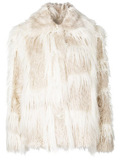 пушистое пальто Helmut Lang