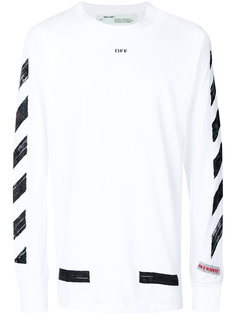 diagonal stripe sweatshirt Off-White